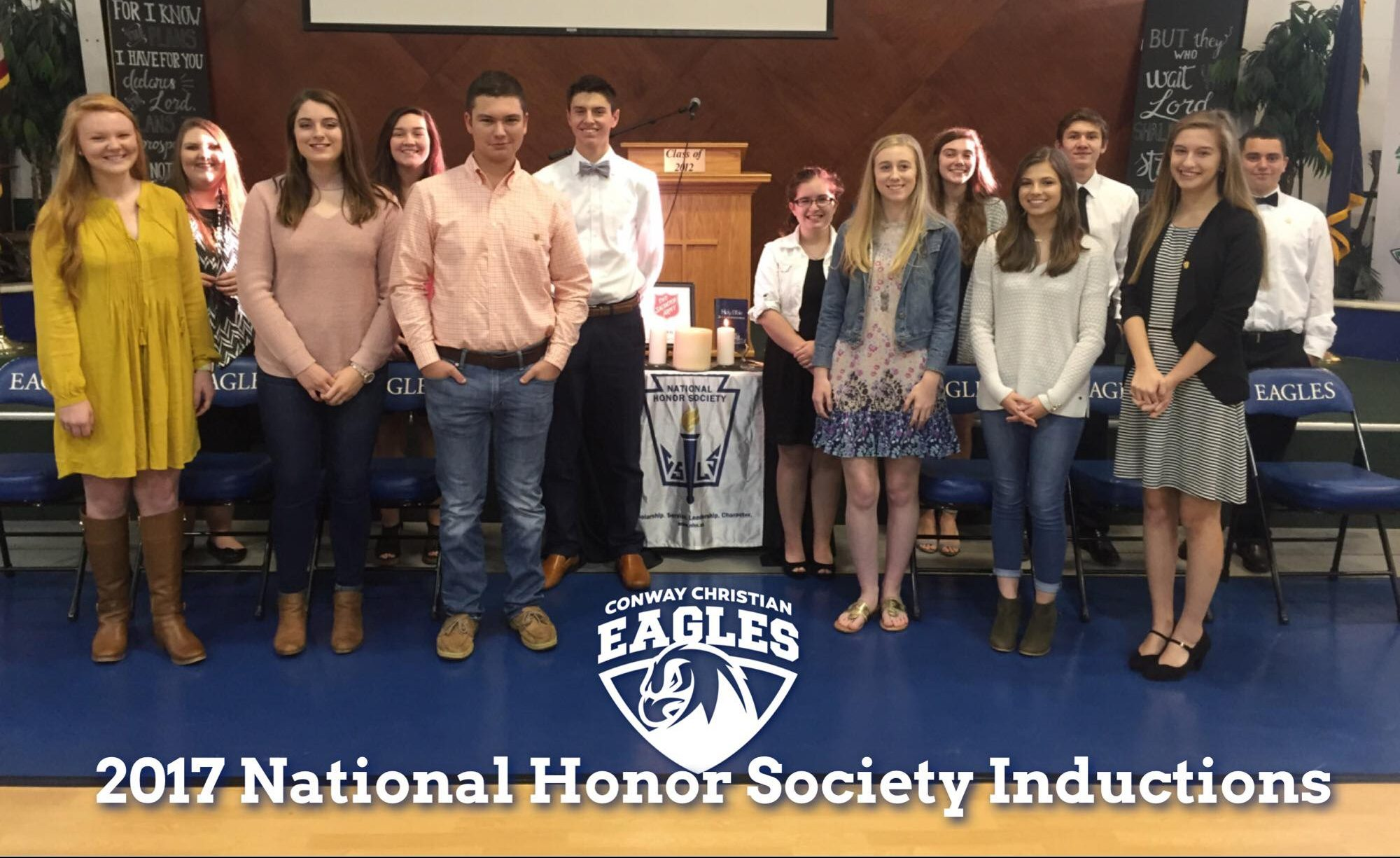 2017 National Honors Society Inductees