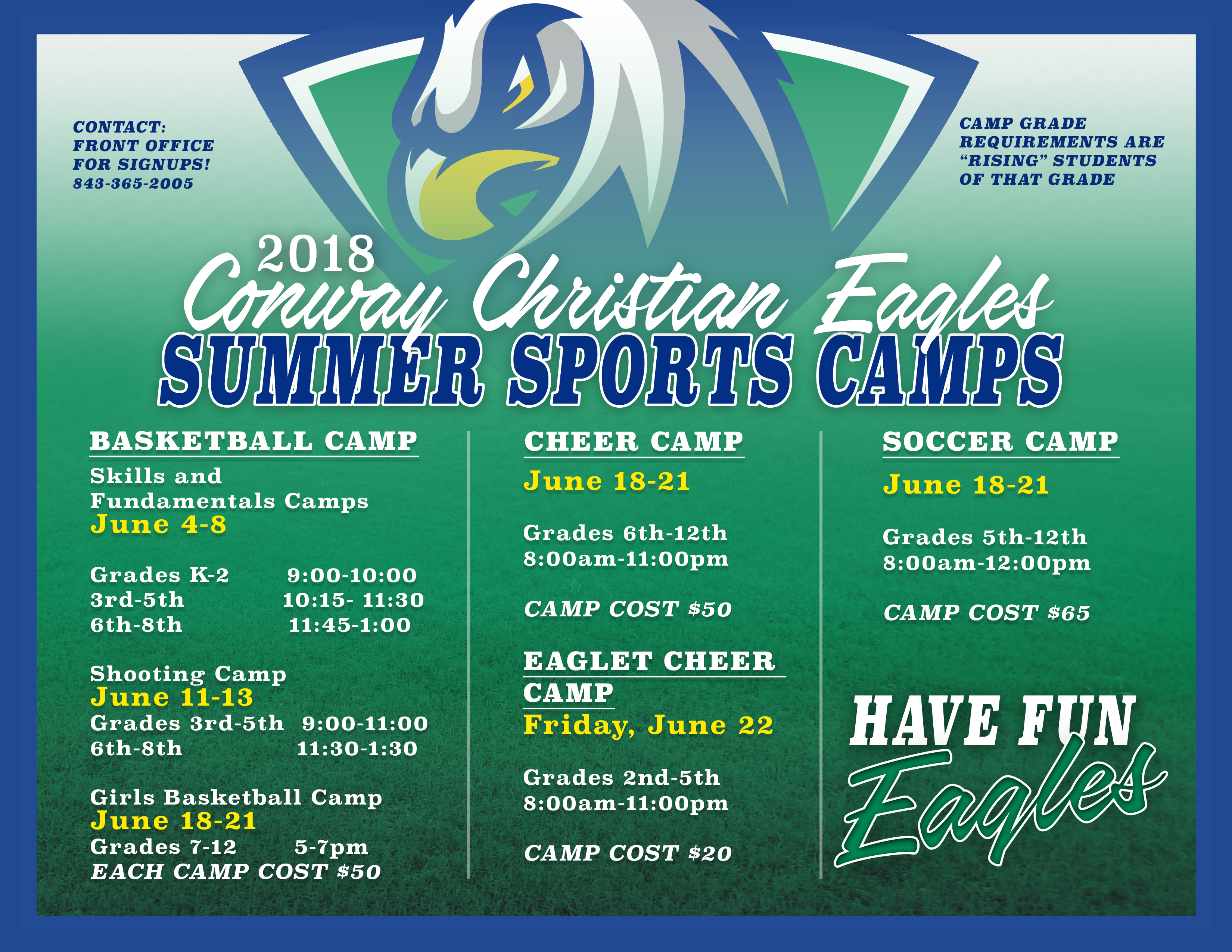 Summer Sports Camps Open for Registration!